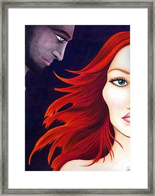 Framed Print featuring the drawing Haunted by Danielle R T Haney