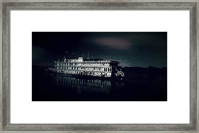 Haunted Dinner Cruise On The Columbia River  Framed Print by Lisa Kaiser