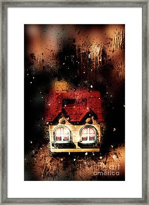 Haunted Doll House Framed Print