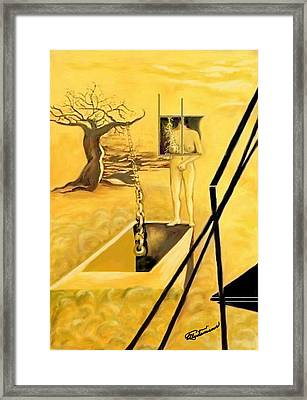 Framed Print featuring the drawing Haunted Dreams by Elly Potamianos