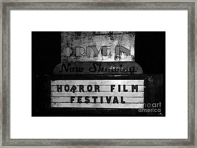 Haunted Drive In Framed Print