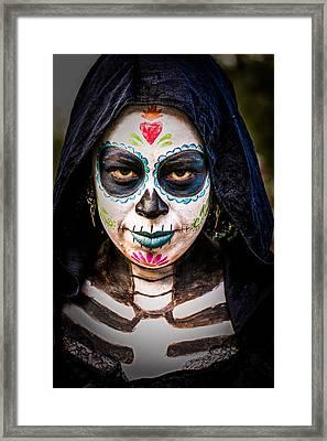 Haunted Eyes Framed Print