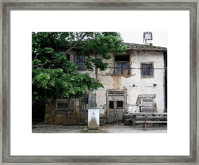 Haunted House In Bulgaria Framed Print by Valia Bradshaw