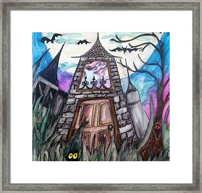 Haunted House Framed Print by Jenni Walford