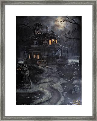 Haunted House Framed Print by Kayla Ascencio