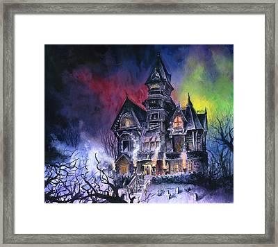 Haunted House Framed Print by Ken Meyer jr