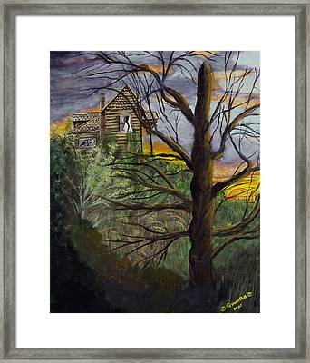 Haunted House Framed Print by Quwatha Valentine