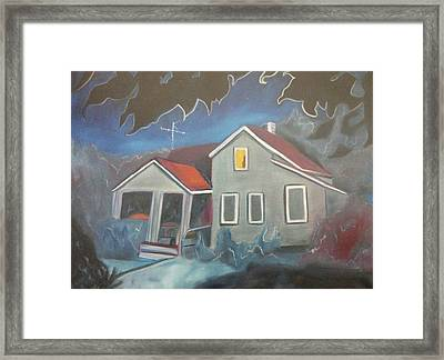 Haunted House Framed Print by Suzanne  Marie Leclair