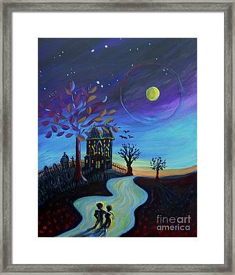 Haunted House Walk Framed Print