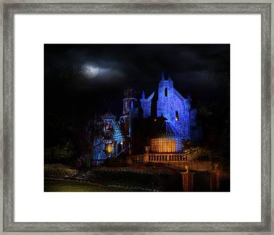 Haunted Mansion At Walt Disney World Framed Print by Mark Andrew Thomas
