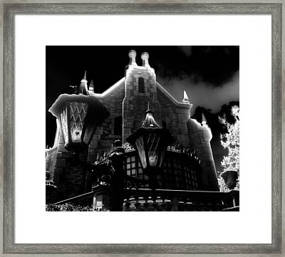 Haunted Mansion Night Framed Print by David Lee Thompson