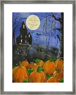 Haunted Night Framed Print by Sylvia Pimental