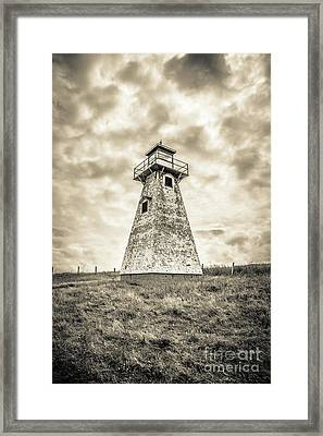 Haunted Old Lighthouse Infrared Framed Print by Edward Fielding