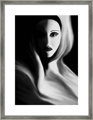 Haunted - Self Portrait Framed Print by Jaeda DeWalt