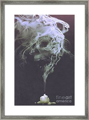 Haunted Smoke  Framed Print