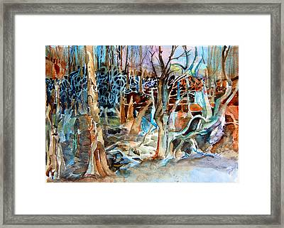 Haunted Swampland Framed Print by Mindy Newman