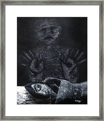 Framed Print featuring the painting Haunted by Teresa Wing