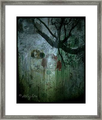 Framed Print featuring the digital art Haunting by Delight Worthyn
