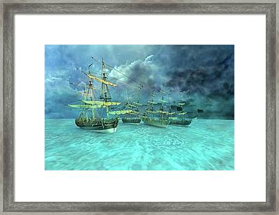 Haunting Serenity Point Framed Print by Betsy Knapp