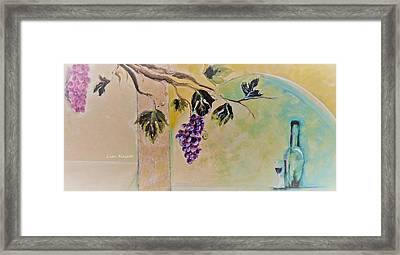 Haunting Wine Distraction Framed Print by Lisa Kaiser