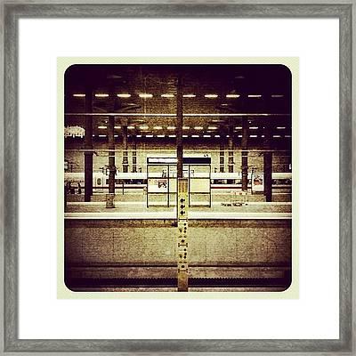 Hauptbahnhof Der Haupstadt #berlin Framed Print