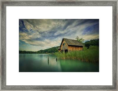 Haus Am See Framed Print by Martin Podt