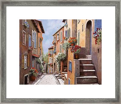 haut de Cagnes Framed Print by Guido Borelli