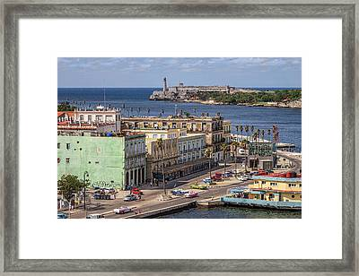 Framed Print featuring the photograph Havana By The Port by Steven Sparks