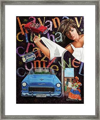 Havana City Framed Print by Jorge L Martinez Camilleri
