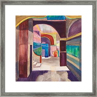 Havana Courtyard Framed Print