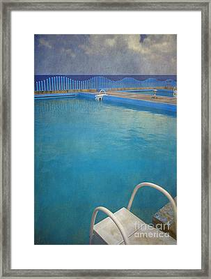 Framed Print featuring the photograph Havana Cuba Swimming Pool And Ocean by David Zanzinger