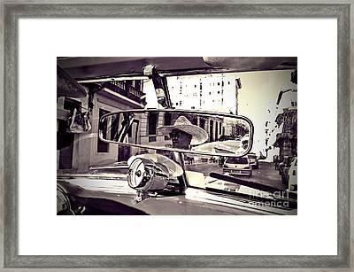 Havana Cuba Taxi Framed Print by Chris Andruskiewicz
