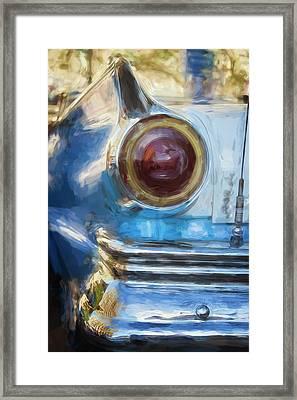 Framed Print featuring the photograph Havana Cuba Vintage Car Tail Light Painterly by Joan Carroll