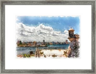Havana From El Morro Framed Print