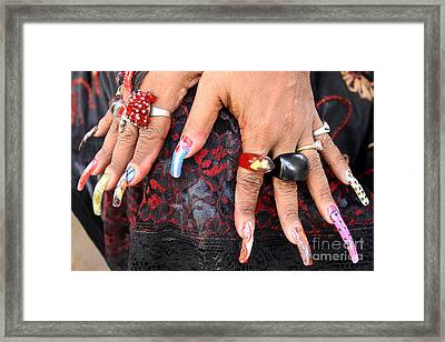 Havana Hands Framed Print by PJ Boylan