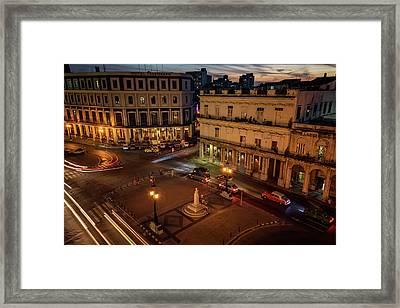 Framed Print featuring the photograph Havana Nights by Joan Carroll