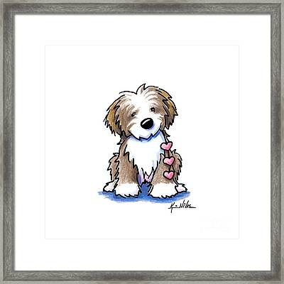 Havanese Heartstrings Framed Print by Kim Niles
