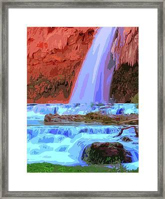 Havasu Falls At Sunset Framed Print
