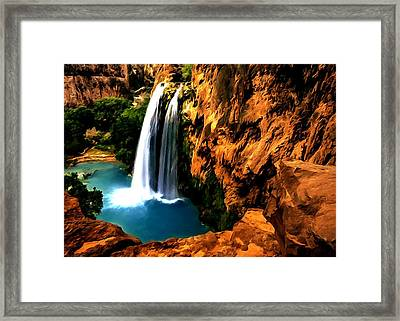 Havasu Waterfall Framed Print