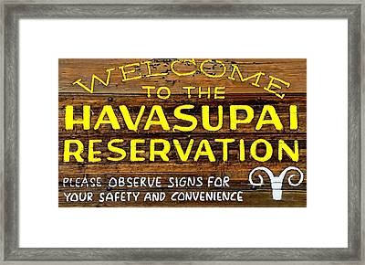 Havasupai Reservation Framed Print