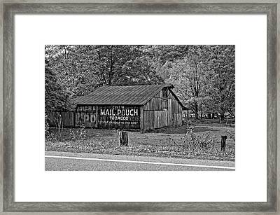 Have A Chaw Monochrome Framed Print