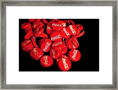 Have A Coke And A Smile Framed Print by Cco