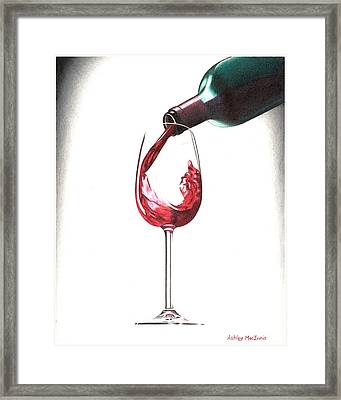 Have A Glass Framed Print by Ashley Macinnis