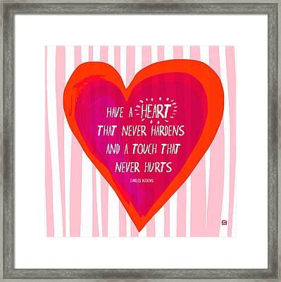 Framed Print featuring the painting Have A Heart by Lisa Weedn