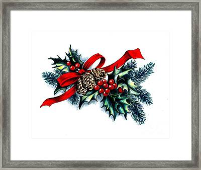 Have A Holly Holly Christmas Framed Print by Tobi Czumak