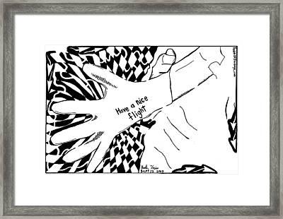 Have A Nice Flight....maze Cartoon By Yonatan Frimer Framed Print by Yonatan Frimer Maze Artist