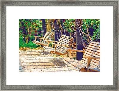 Framed Print featuring the photograph Have A Seat Relax by Donna Bentley