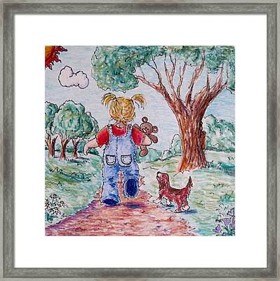Have Bear, Will Travel Framed Print by Megan Walsh