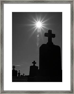 Have Faith...bw Framed Print by Karol Livote