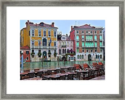 Have Lunch On The Grand Canal Framed Print